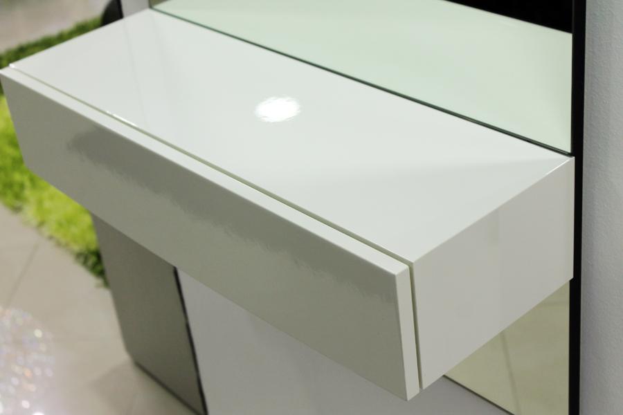 Specchio moderno Calligaris con cassetto - Stefano Arredamenti