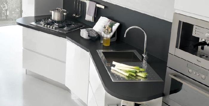 La scelta del piano cucina i materiali top for Piano cucina in cemento