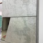 parete attrezzata dettaglio colonna