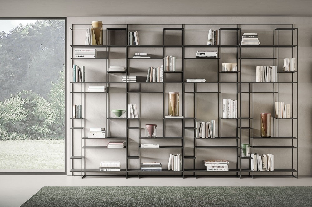 arredare un corridoio con libreria